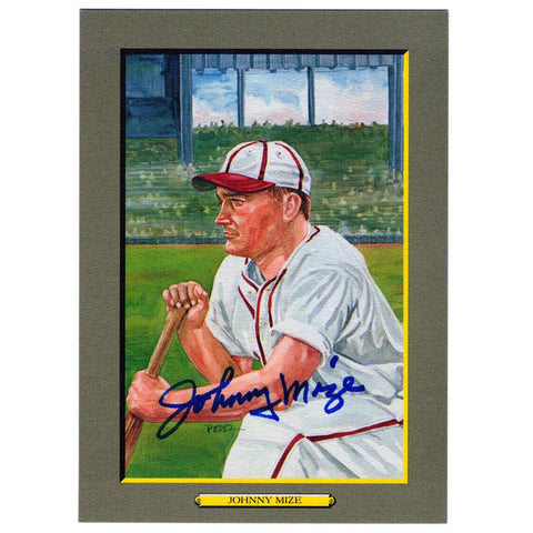 "Johnny Mize Autographed ""Great Moments"" Perez-Steele Print"