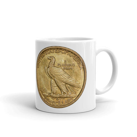 $10 Indian Gold Coin Irish Coffee Mug