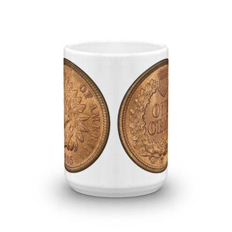 The 1865 Indian Cent Redeye Coffee Mug