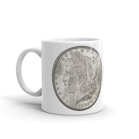 1880-CC Morgan Dollar Carson City Cafe au Lait Mug