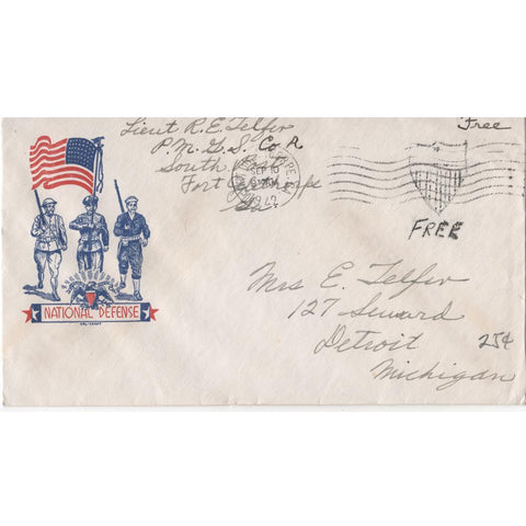 "Sep. 10, 1942 ""National Defense"" WW2 Patriotic Cover"