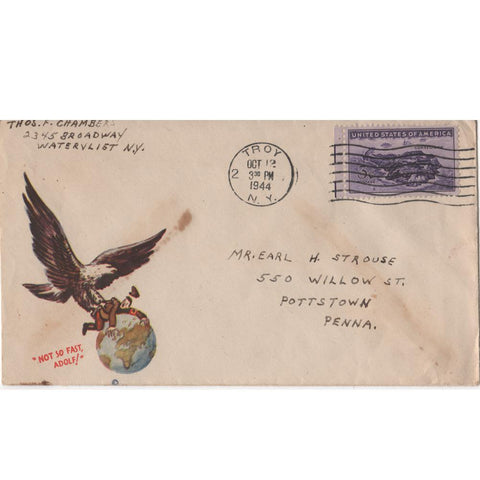 "Oct. 12, 1944 ""Not So Fast, Adolf!"" WW2 Patriotic Cover"