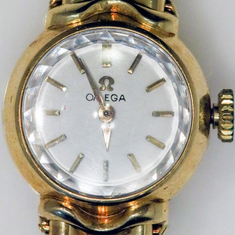 1958 18K Gold Omega Saphette Ladies Bracelet Watch - Cal 481, Ref. 7049
