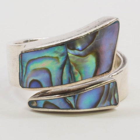 Sajen Paua Shell Sterling Silver Ring