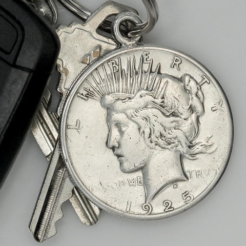 The Peace Dollar Silver Key Ring