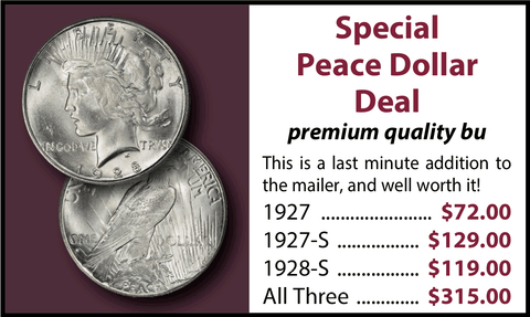 Special Peace Dollar Deal - 1927 • 1927-S • 1928-S