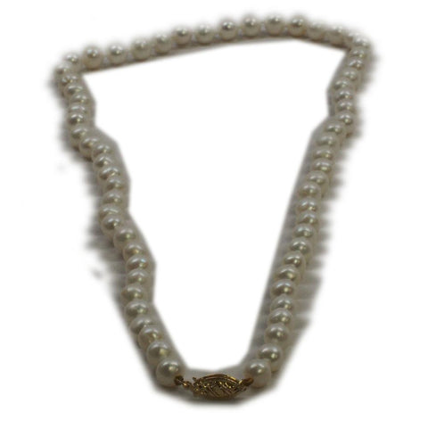 Vintage IPS 14k Gold Cultured Knotted Pearl Necklace