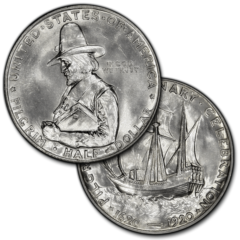 (1920-1921) Pilgrim Silver Commemorative Half Dollar - Brilliant Uncirculated