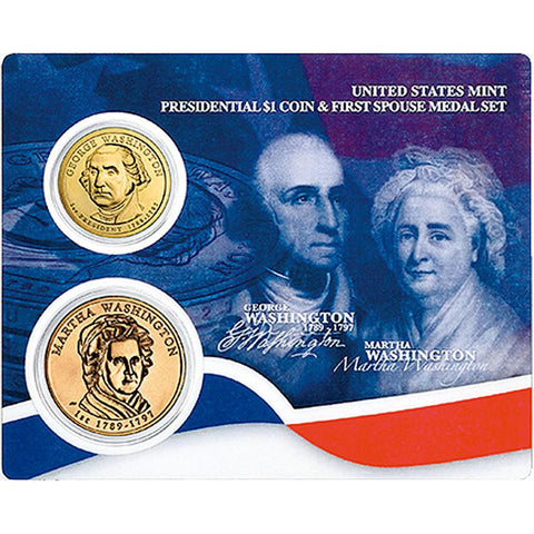 Presidential Dollar and First Spouse Medal Sets in Original Government Packaging