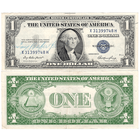 Ivy Baker Priest Courtesy Signature - 1935-E $1 Silver Certificate Fr. 1614 - Very Fine