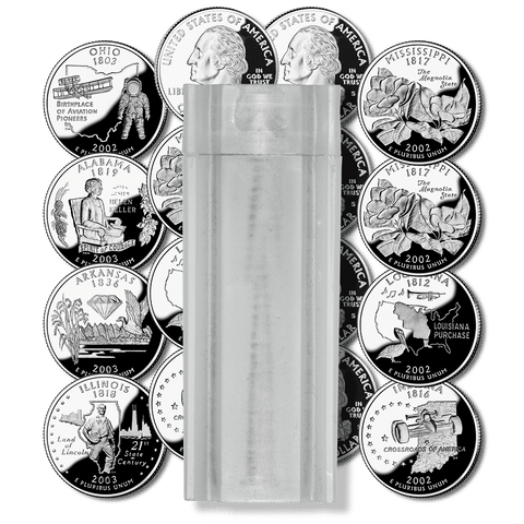 90% Silver Proof Statehood/ATB Quarter 40-Coin Rolls