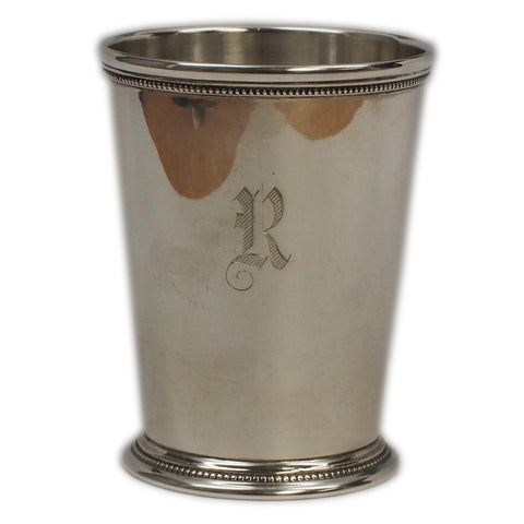 "International Patrick Henry Sterling Silver Mint Julep Cup ""R"" Monogram"