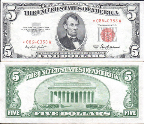1963 $5 Legal Tender Star Notes - Multiple Grades Available