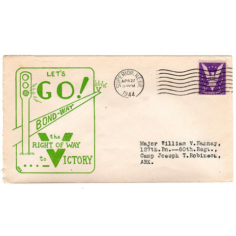 Apr 27, 1944 Right of Way to Victory Patriotic Cover