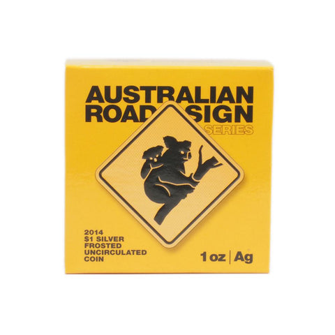 2014 Australian Road Sign Series $1 Silver Coin - PQBU Frosted Silver in OGP