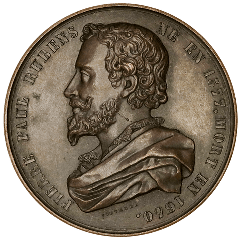 (1848) Pierre Paul Rubens, Flemish Baroque Artist (Belgium) A.C. Jouvenel 46mm/Bronze ~ Uncirculated