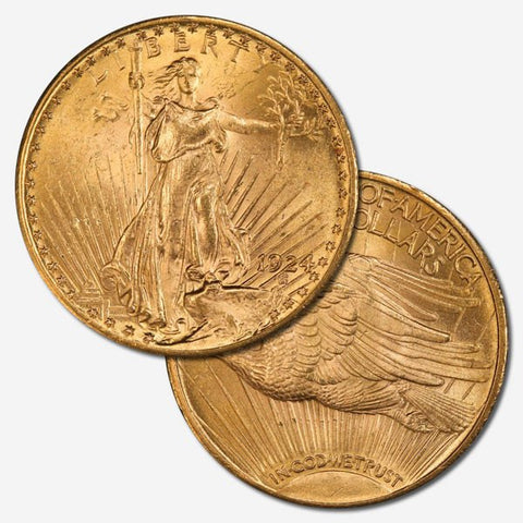 TGIF 2016-05-20 - $20 Saint Gaudens Double Eagle Gold Coins - PQ Brilliant Uncirculated