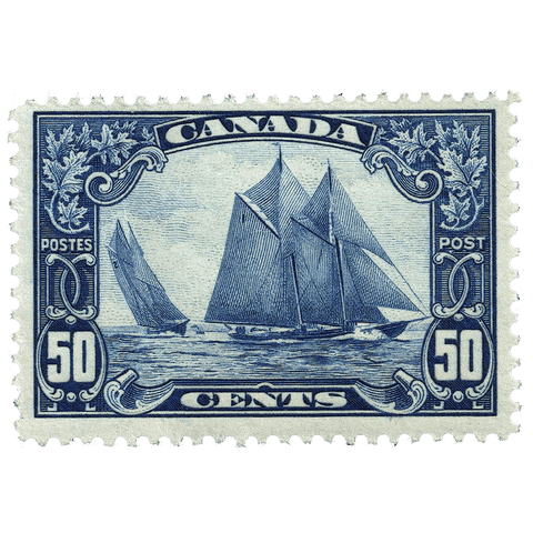 Canada Scott #158 1929 50c Bluenose - VF Mint NH OG