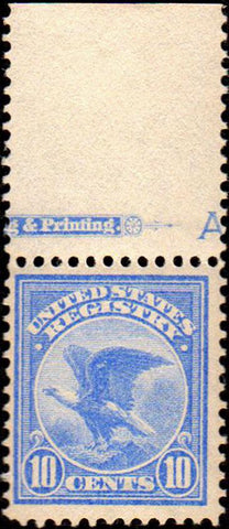 Scott #F1 1911 10¢ Registration Stamp Pale Ultramarine - Very Fine OG NH