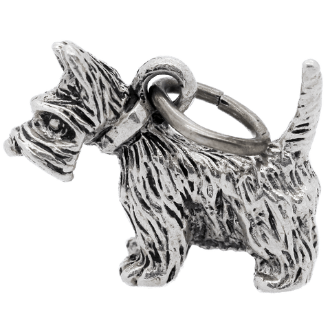 Vintage Sterling Silver Large Scottish Terrier Charm