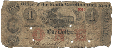 1873 $1 Office of the South Carolina Rail Road - Good