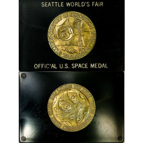 1962 Seattle Worlds Fair Official U.S. Space Bronze Medal - Uncirculated