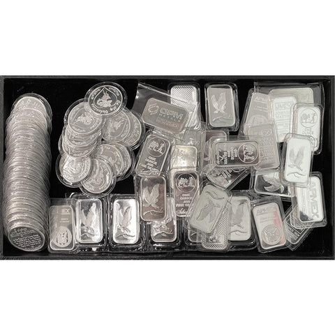 Secondary Market 1 oz .999 Silver Bars & Rounds - 75¢ Over Spot