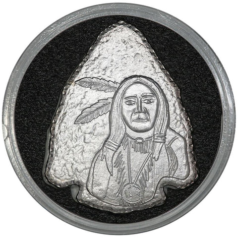 1 oz .999 Silver Arrowhead Indian Warrior