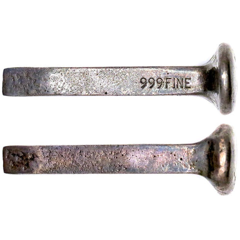 .999 Silver Railroad Spike - 1.697 toz - 65mm Length (#2)