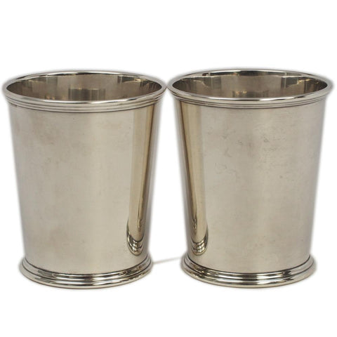 Pair S. Kirk & Son 277 Sterling Mint Julep Cups