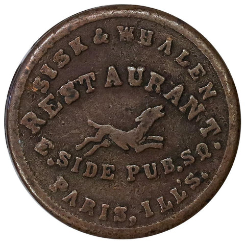 1863 Sisk & Whalen Restaurant Paris, IL 690E (Rarity 6) - Very Fine