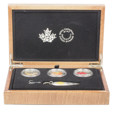 2016 RCM Proof $20 Silver North American Sportfish 3 Coin Set With Fishing Lure - Gem Proof in OGP
