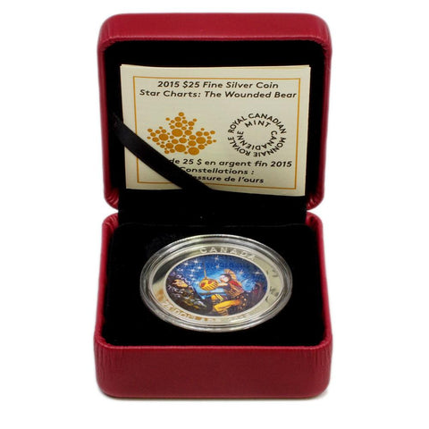 "2015 RCM $25 Star Charts ""The Wounded Bear"" Fine Proof Coin - Gem Proof in OGP"