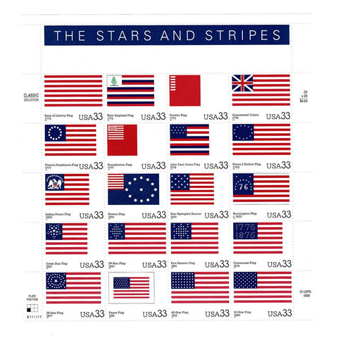 2000 33c Scott #3403 Stars and Stripes Sheet (20) MNH