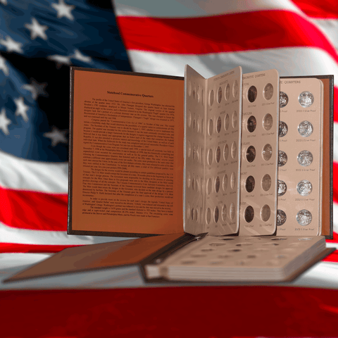 Complete 1999-2008 P-D-S-S 200-Coin State Quarter Sets in Two Bookshelf Albums