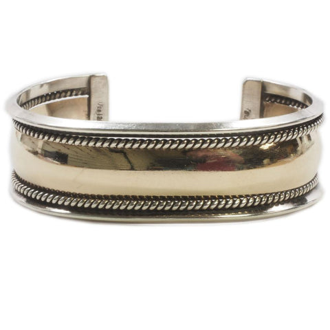 Tahe Navajo Native American Sterling Cuff