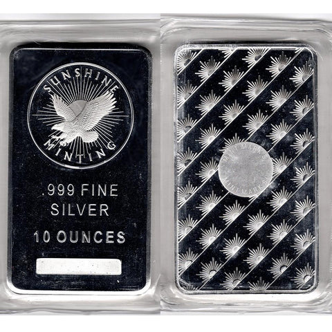 Secondary Market 10 oz .999 Silver Bars (All Sealed) - Pleasingly Low Premium