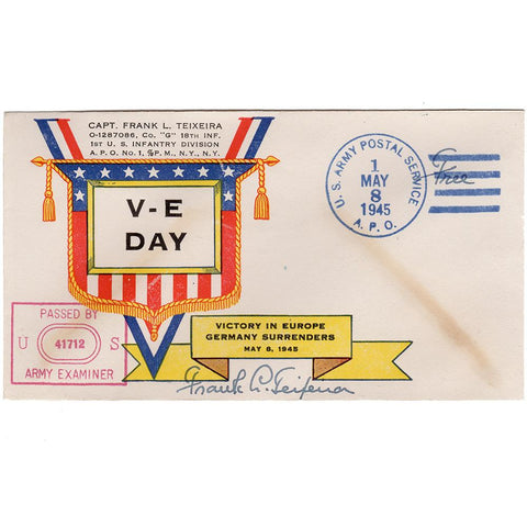 May 8, 1945 - Teixeira V-E Day Patriotic Cover (Signed) - Free Postage