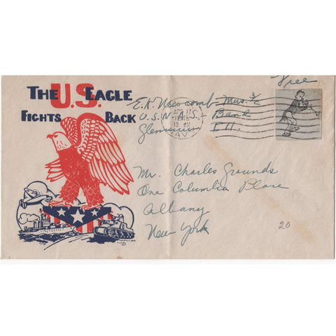 "Apr. 17, 1945 ""The U.S. Eagle Fights Back"" WW2 Patriotic Cover"
