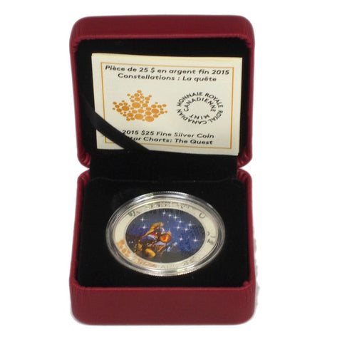 "2015 ""The Quest"" $25 Canadian Silver Proof Coin - Gem Proof in OGP"