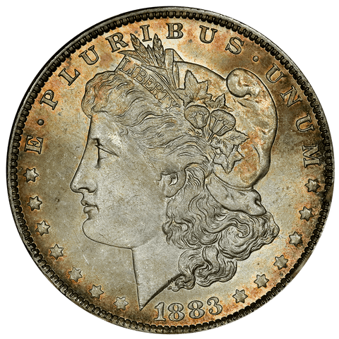"1883-O Morgan Dollar in Vintage ""Tidy House/Omaha Coins"" - Choice Toned Uncirculated"