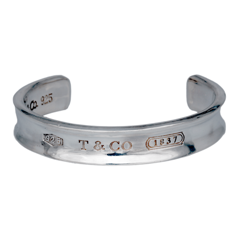 "Sterling Tiffany & Co 1837 Cuff Bracelet, up to 7"" Wrist"