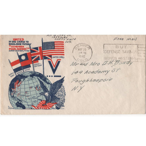 "May 20, 1942 ""Remember Pearl Harbor!"" WW2 Patriotic Cover"