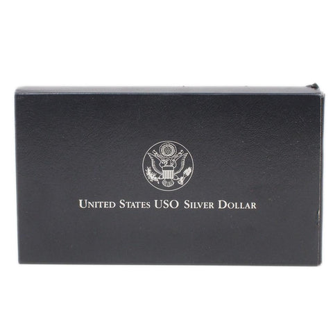 1991 USO Commemorative Silver Proof Dollar - Gem Proof in OGP w/ COA