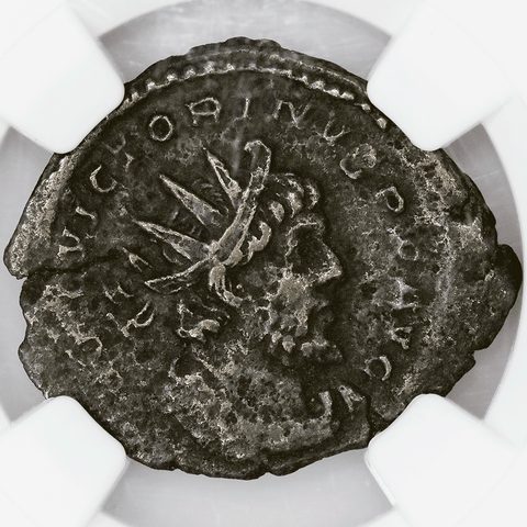 Romano-Gallic Empire, Victorinus BI Double-Denarius, 269-271 AD, NGC Choice VF