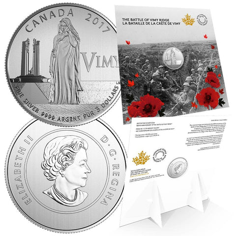 2017 1/4 oz Canadian Silver Battle of Vimy Ridge 100th Anniv. $3 Coin - Still Shrinkwrapped Gem
