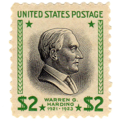 1938 $2 Warren G. Harding Scott #833 Stamp - V.F. O.G. N.H.