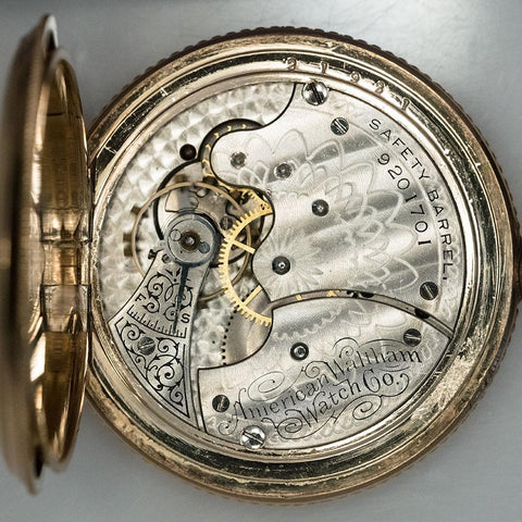 1899 Waltham GF Pocket Watch - 11 Jewel, Model 1890, Size 6 Hand Engraved & Includes Chain
