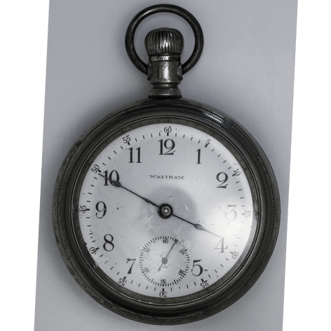 1904 Waltham Nickel Pocket Watch - 7 Jewel, Model 1883, Grade No. 18, Size 18s