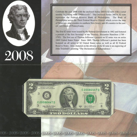 2003-A $2 Philadelphia Federal Reserve Note in Government Packaging - Gem Unc